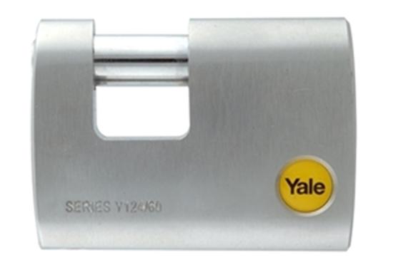 Picture of 60mm Brass Satin Chrome Rectangular Padlock