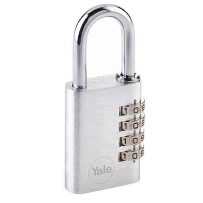 Picture of Aluminium combination padlock 38mm 4 dials Silver