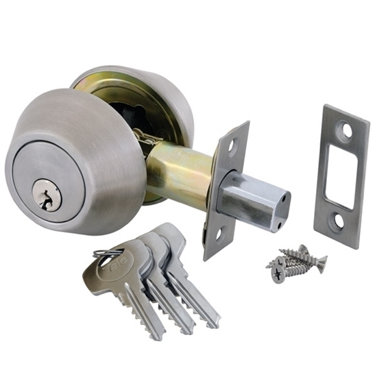 Picture of Double Cylinder Deadbolt - Satin Silver