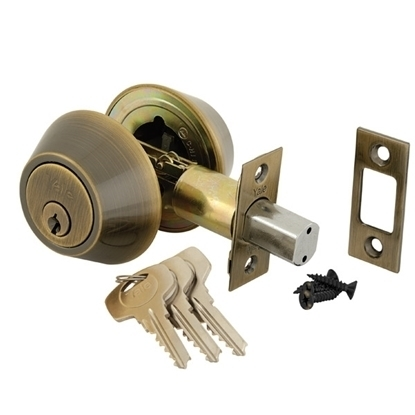 Picture of Double Cylinder Deadlock - Antique Brass