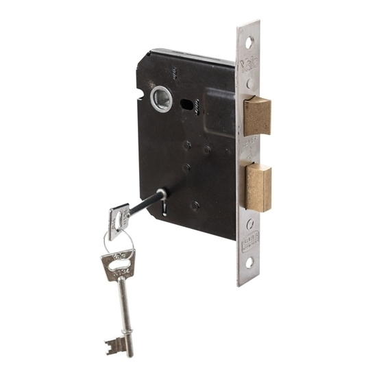 Picture of 4 Lever Powder Coated Upright Lock - Chrome