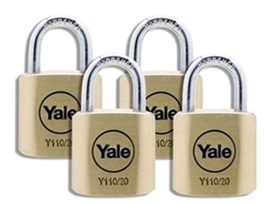 Picture of 20mm Brass Padlock Quad KA