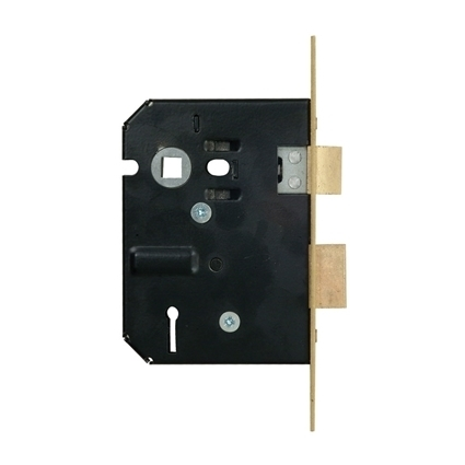 Picture of 4 Lever Powder Coated Upright Lock - Brass