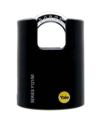 Picture of 50mm Brass Black Cover Closed Shackle Padlock
