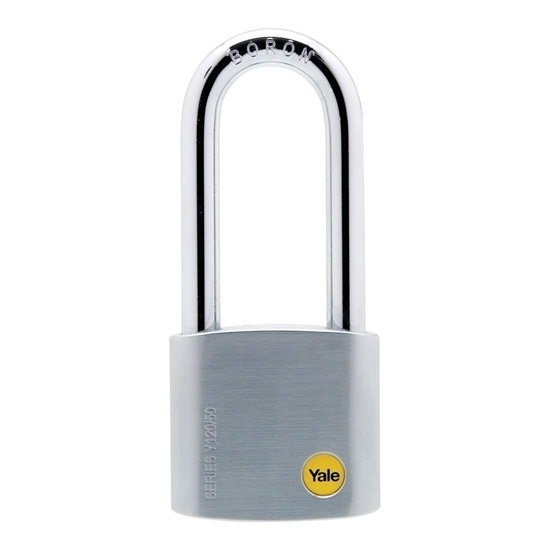 Picture of 50mm Long Shackle Satin Chrome Padlock