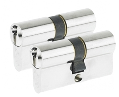 Picture of 64mm Euro Profile Cylinder - Satin Nickel (Duo Pack)