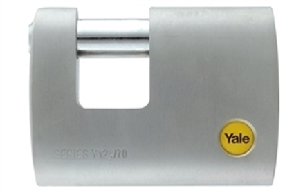 Picture of 70mm Brass Satin Chrome Rectangular Padlock