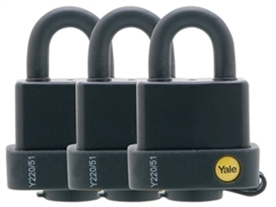 Picture of Weatherproof Padlock 51mm pk 3