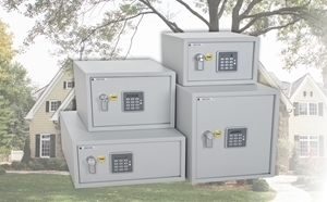 Yale's new range of Security Safes with alarms.