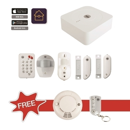 Picture of Smart Alarm Kit with FREE Smoke Detector & Remote