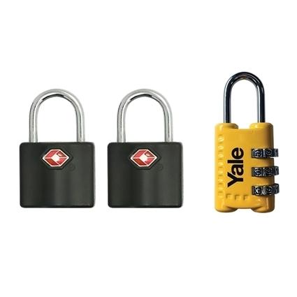 Picture of TSA Keyed padlocks and FREE combination padlock