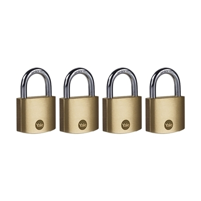 Picture of 40mm Brass Padlock - Quad Pack