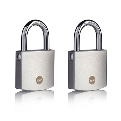 Picture of 50mm Brass Padlock with Chrome Finish - Duo Pack