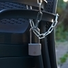 Picture of 50mm Brass Long Shackle Padlock with Chrome Finish