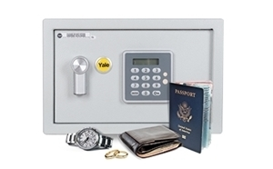 Protect your valuables in a Yale safe.