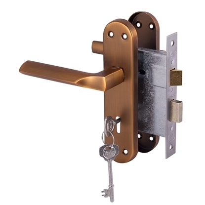 Picture of Cuneo lockset 3 Lever - Matte Coffee