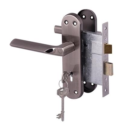 Picture of Cuneo lockset 3 Lever - Satin Black Nickel