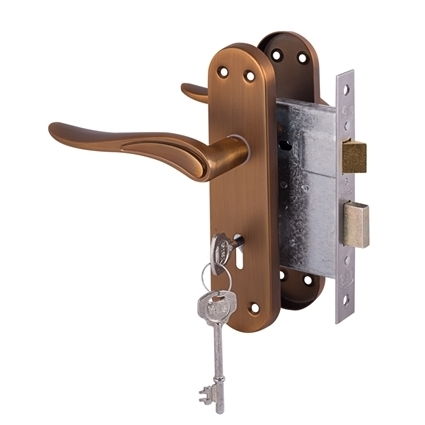 Picture of Dolce lockset 3 Lever - Matte Coffee