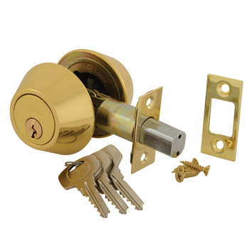 Double Cylinder Deadlock - Polished Brass
