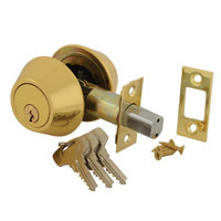 40-D102-0201 - Double Cylinder Deadlock - Polished Brass