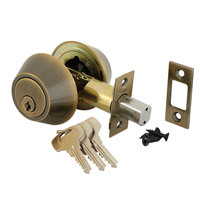 40-D102-0901 - Double Cylinder Deadlock - Antique Brass