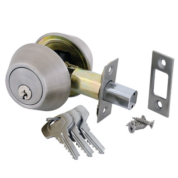 Double Cylinder Deadbolt - Satin Silver