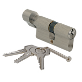 5033030CK2201 - 60mm Thumb Turn Cylinder - Satin Nickel