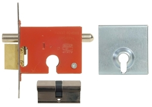 YDY8882/2X28NP - Euro Profile Security Gate Lock & Euro Cylinder