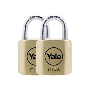Y110/20/111/2 - 20mm Brass Padlock<br> Duo KA