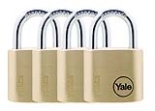 Y110/30/117/4 - 30mm Brass Padlock<br> Quad KA