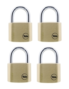 Y110/40/123/4 - 40mm Brass Padlock <br>Quad KA
