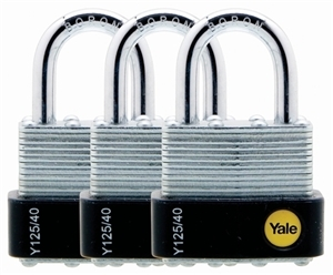 Y125/40/122/3 - 40mm Laminated Padlock - Trio Pack KA