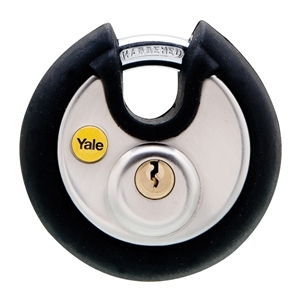 Y130/70/116/1 - 70mm Black Cover Discus Padlock